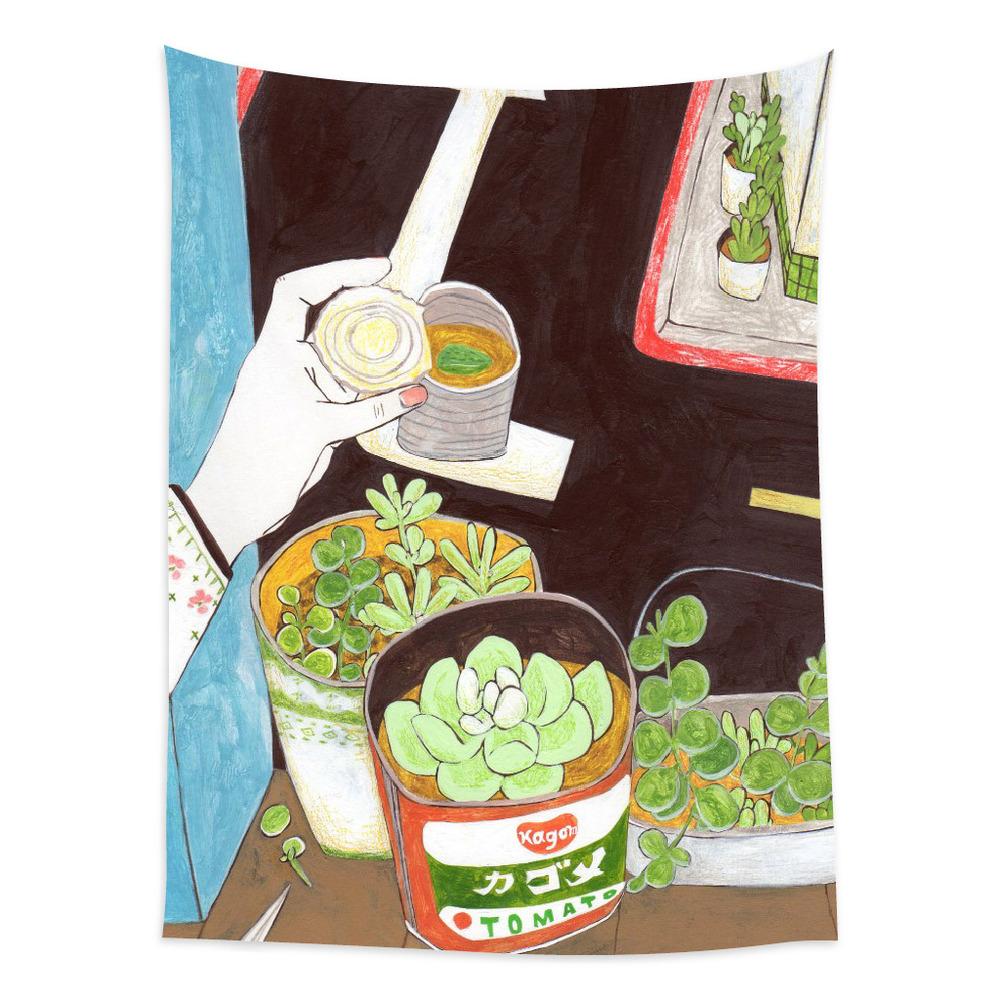 UMade|藝術家創作壁幔 - 用多肉植物造一個自己的陽臺A- 裴小馬Pony Pei (150x112cm)