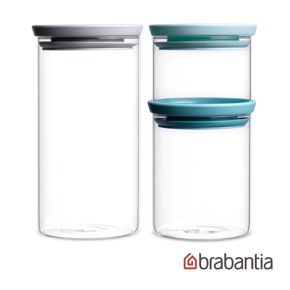 Brabantia|玻璃食物儲存罐3入(0.3L/0.7L/1.1L)