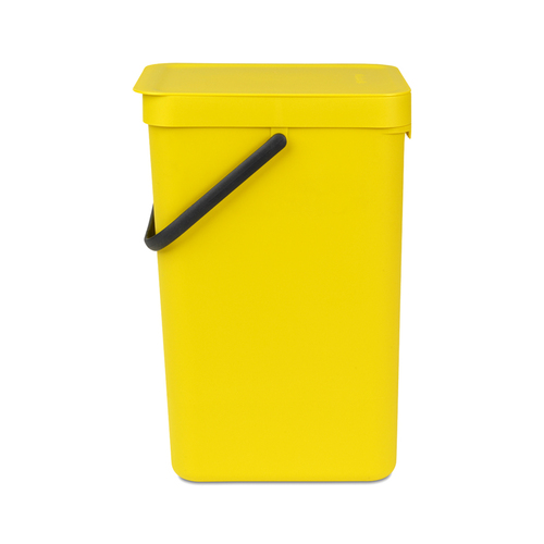 Brabantia 多功能餐廚置物桶16L-黃色