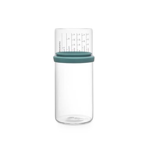Brabantia  玻璃量杯儲存罐1L-薄荷藍