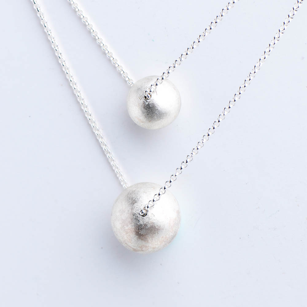 I-Shan13|銀球珍珠項鍊(大)