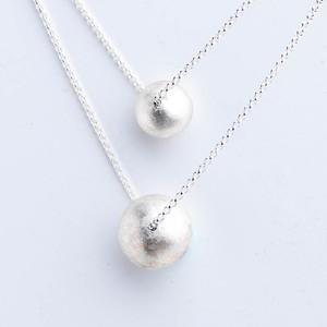 I-Shan13|銀球珍珠項鍊(小)