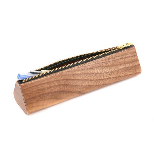 木入三分|木皮革筆盒