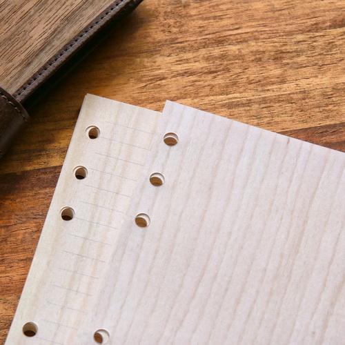 木入三分|栓木木紋活頁紙(A5 六孔)