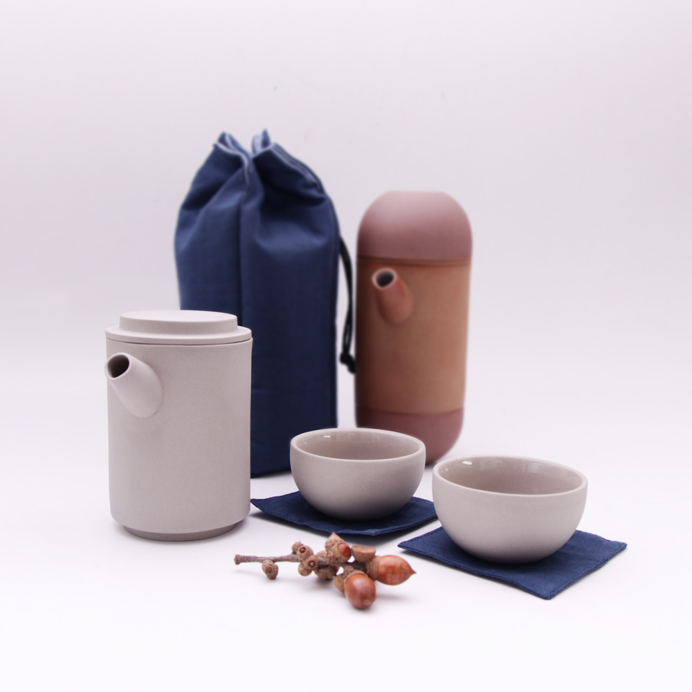 MOTOR|享福茶具組 Round Travel teapot set (附旅行保護袋)
