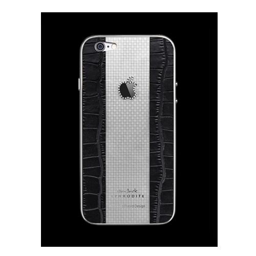 Navjack Aphrodite|iPhone 6  / 6s 水鑽版 22K鍍白金碳纖紋真皮背蓋