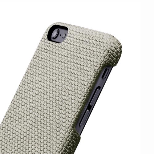 Navjack|iPhone 6 Plus / 6s Plus 編織紋保護背蓋(卡其灰)