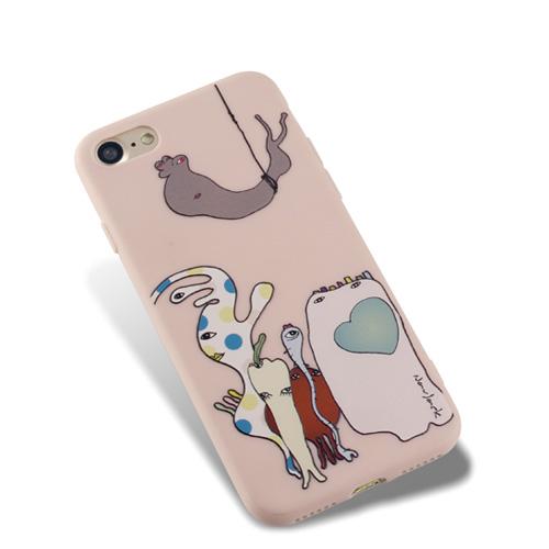 Navjack|OS系列 iPhone 7 | 8 共用 (4.7吋) 小資族淺浮雕保護背套 薔薇粉