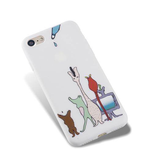 Navjack|OS系列 iPhone 7 | 8 共用 (4.7吋) 小資族淺浮雕保護背套 空靈白