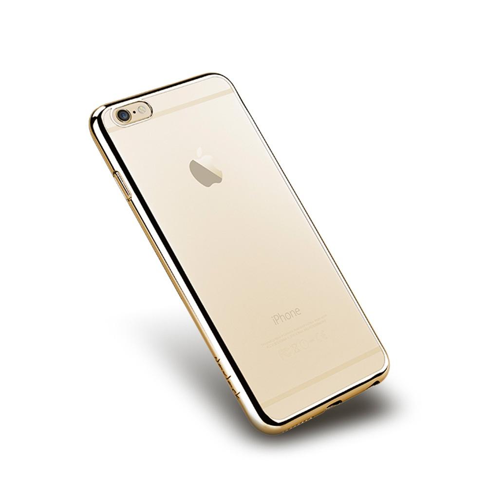 Navjack|iPhone 6 Plus / 6s Plus 金屬光透感保護軟蓋(閃耀金)