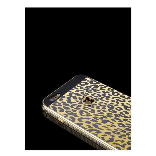 Navjack Aphrodite|iPhone 6 / 6s 鋯石版 24K黃金鍍金豹紋保護背蓋