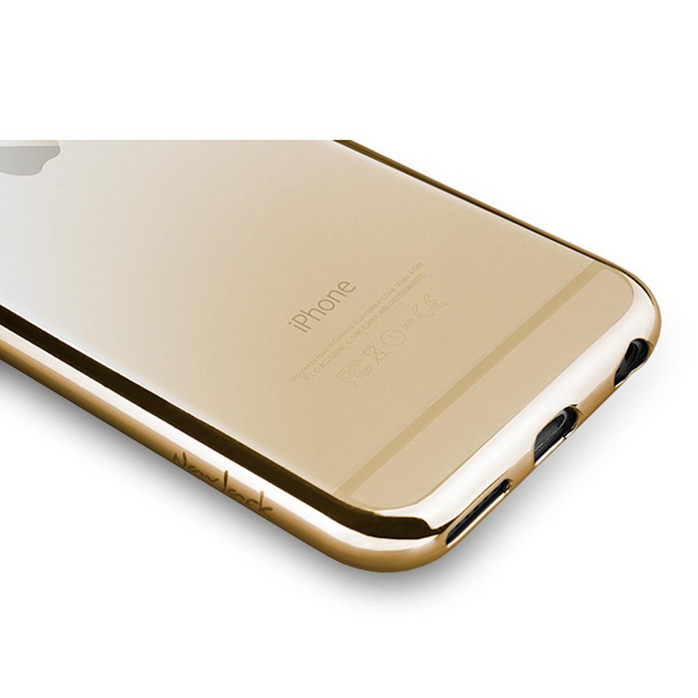 Navjack|iPhone 6 / 6s 金屬光透感保護軟蓋(閃耀金)