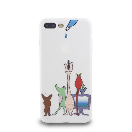 Navjack|OS系列 iPhone 7 | 8 Plus 共用 (5.5吋) 小資族淺浮雕保護背套 空靈白