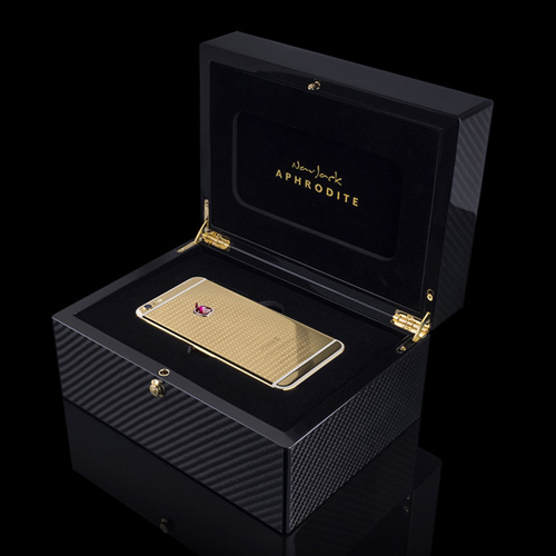 Navjack Aphrodite|iPhone 6s Plus 24K鍍金紅寶石(格倫紋奢華版)