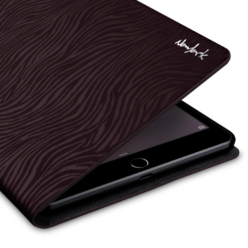 Navjack|iPad mini 2&3 斑馬紋保護套(古銅棕)