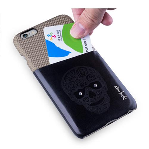 Navjack|iPhone 6 Plus / 6s Plus 魅影系列 雙色卡夾保護背蓋(可可棕)