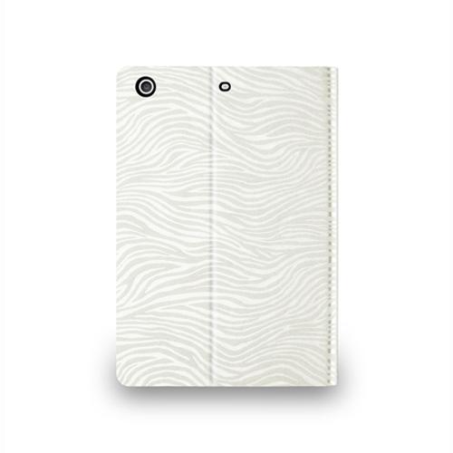 Navjack|iPad mini 2&3 斑馬紋保護套(珍珠白)