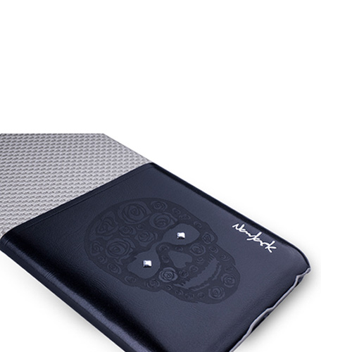 Navjack|iPhone 6 Plus / 6s Plus 魅影系列 雙色卡夾保護背蓋(卡其灰)