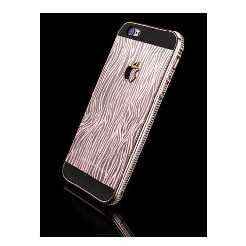 Navjack Aphrodite|iPhone 6  / 6s 水鑽版 22K玫瑰鍍金斑馬紋保護背蓋