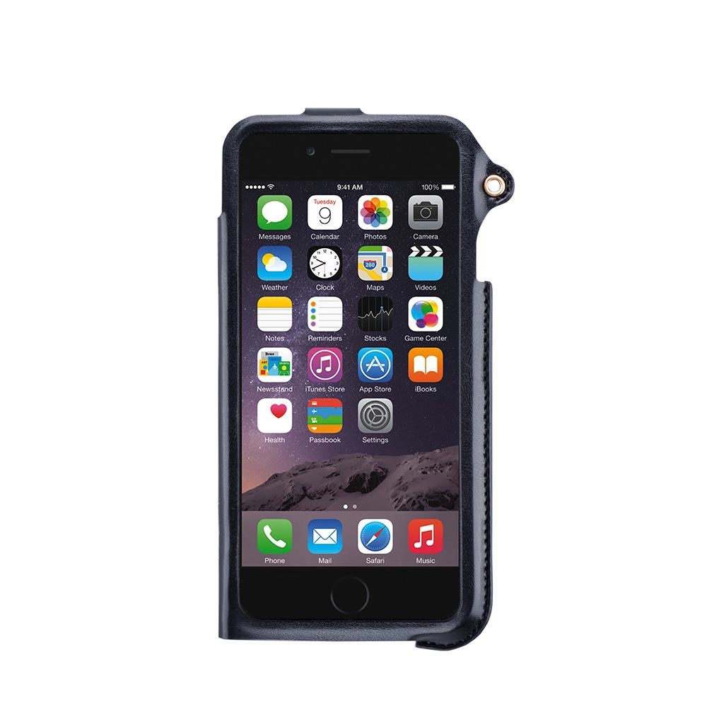 Navjack|iPhone 6 / 6s 掛繩式卡夾站立皮套(漆黑金)