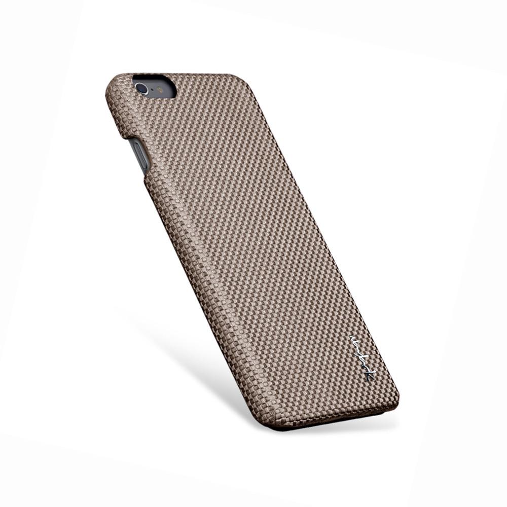 Navjack|iPhone 6 Plus / 6s Plus 編織紋保護背蓋(可可棕)