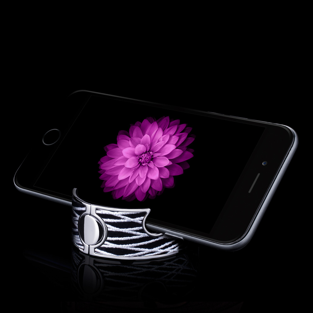 Navjack|手機架手環(漆黑銀)