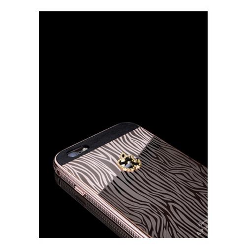 Navjack Aphrodite|iPhone 6 Plus  / 6s Plus 水鑽版 22K玫瑰鍍金斑馬紋保護背蓋
