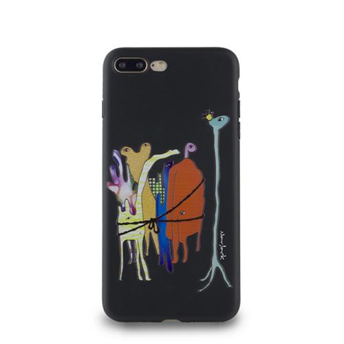 Navjack|OS系列 iPhone 7 | 8 Plus 共用 (5.5吋) 小資族淺浮雕保護背套 太空黑