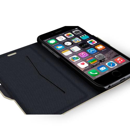 Navjack|iPhone 6 Plus / 6s Plus 斑馬紋側掀保護套(玫瑰金)