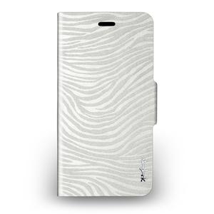 Navjack iPhone 6 Plus /  6s Plus 斑馬紋側掀保護套(珍珠白)
