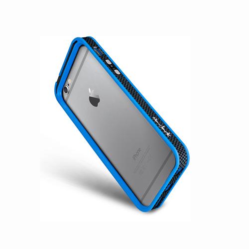 Navjack|iPhone 6 /  6s 撞色可立式保護框(湛藍色)