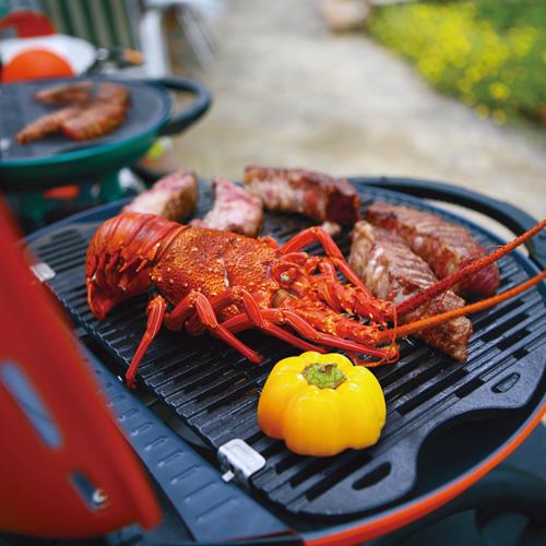 O-Grill|3500T 美式時尚可攜式瓦斯烤肉爐(橘/紅/藍/黑)  精選套餐 (B套餐)