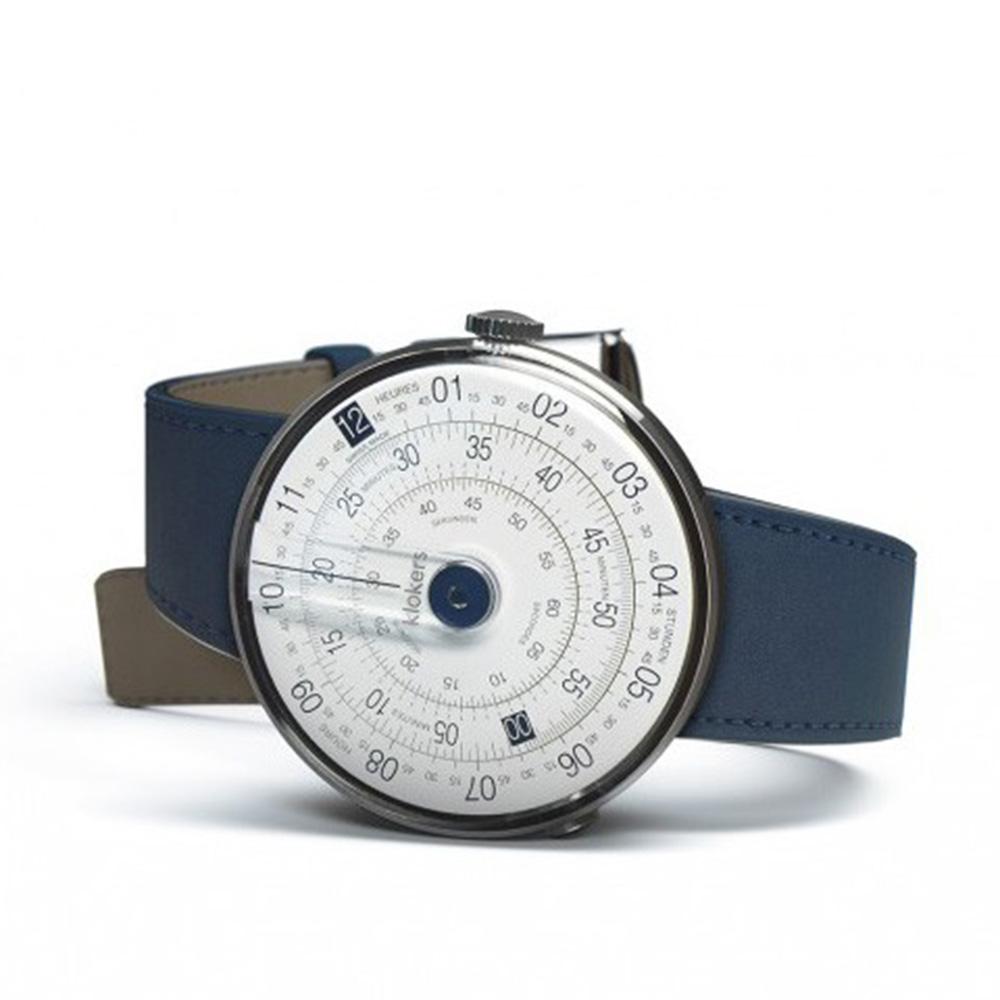 klokers   庫克錶 KLOK-01(靛藍皮革)