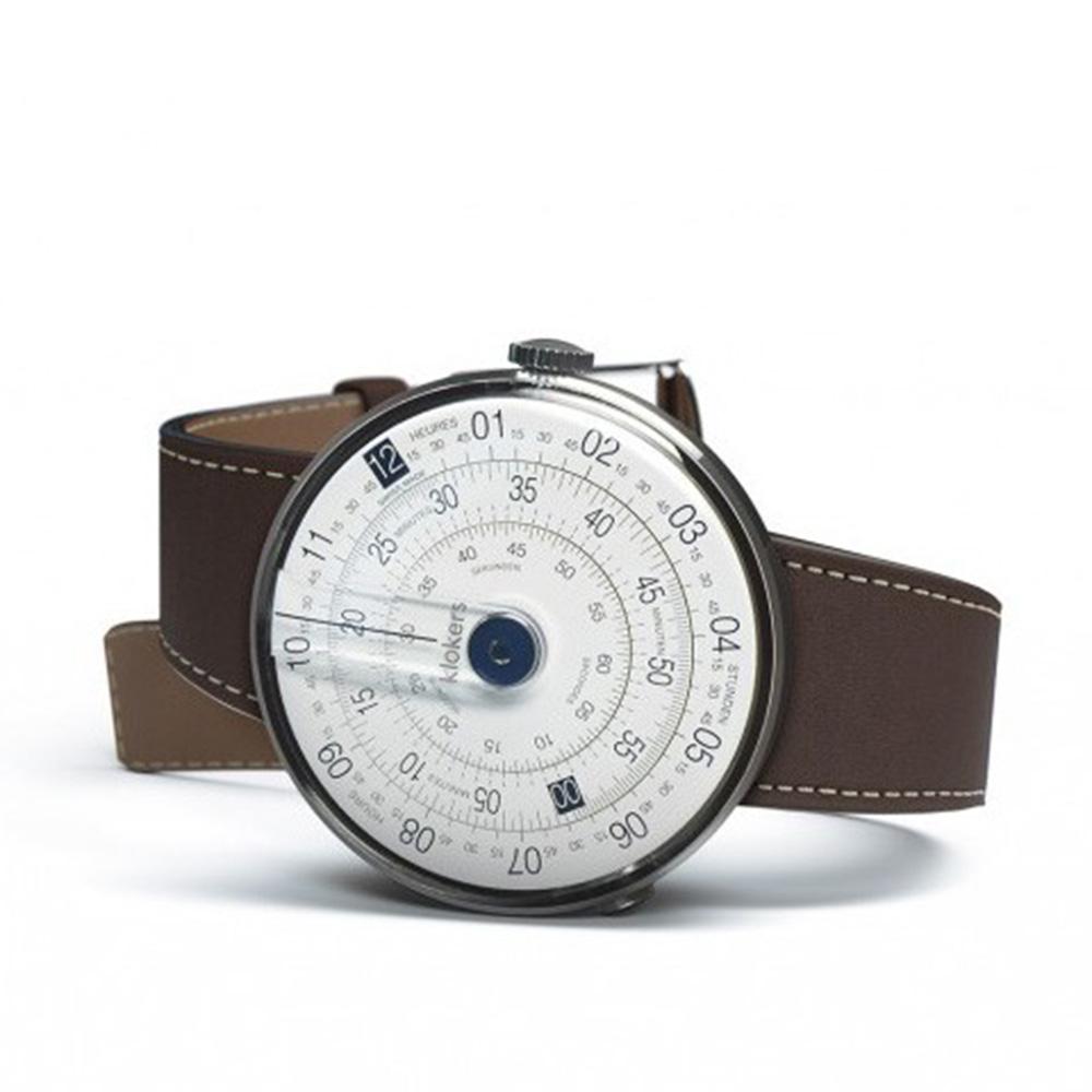 klokers | 庫克錶 KLOK-01(咖啡色皮革)