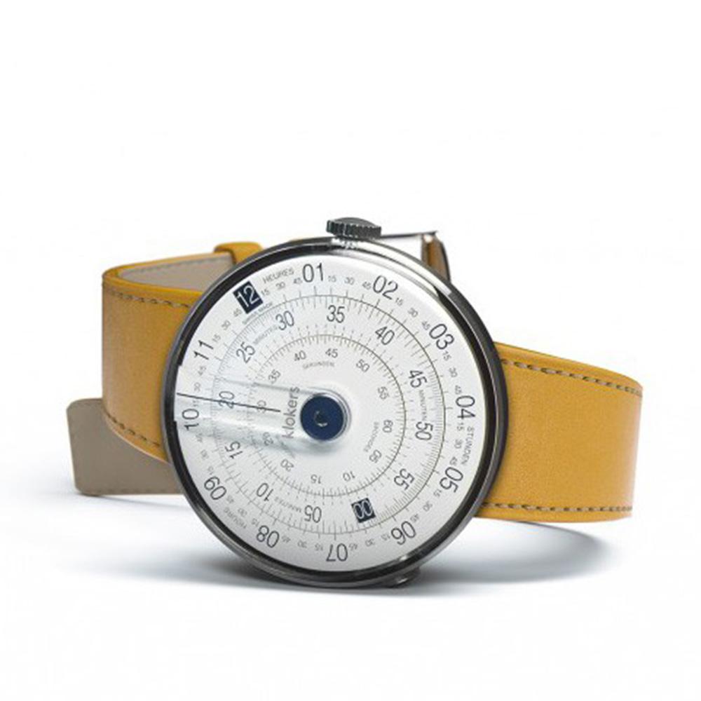 klokers   庫克錶 KLOK-01(紐波特黃色皮革)