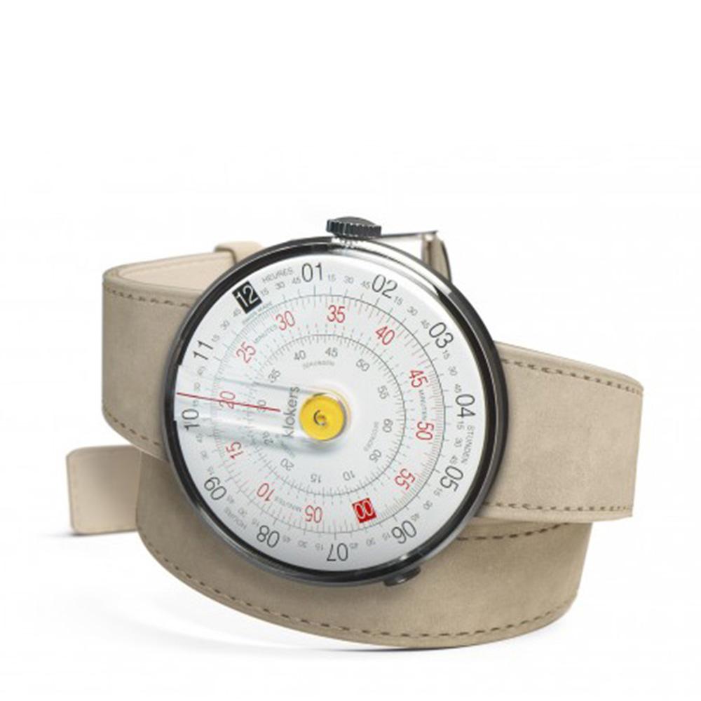 klokers | 庫克錶 KLOK-01-雙圈錶帶(鼠灰色麂皮革)