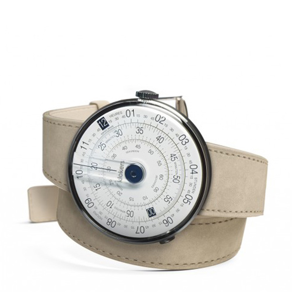 klokers   庫克錶 KLOK-01-雙圈錶帶(鼠灰色麂皮革)