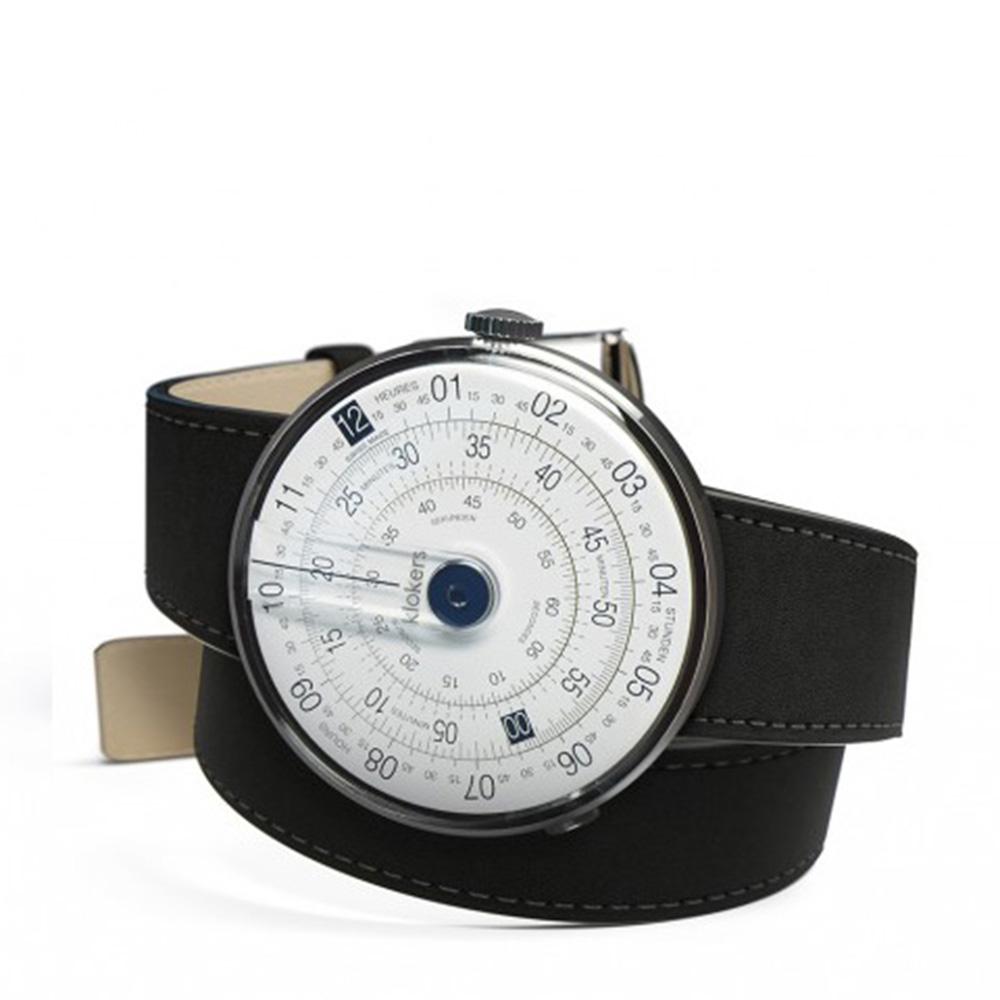 klokers | 庫克錶 KLOK-01-雙圈錶帶(黑色柔滑皮革)