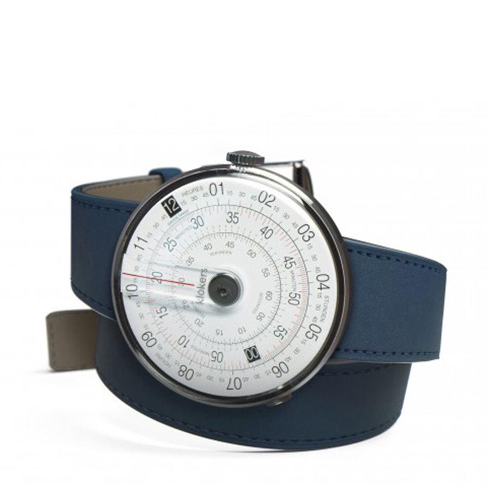 klokers | 庫克錶 KLOK-01-雙圈錶帶(靛藍皮革)