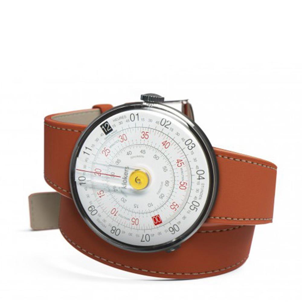 klokers | 庫克錶 KLOK-01-雙圈錶帶(橙色皮革)