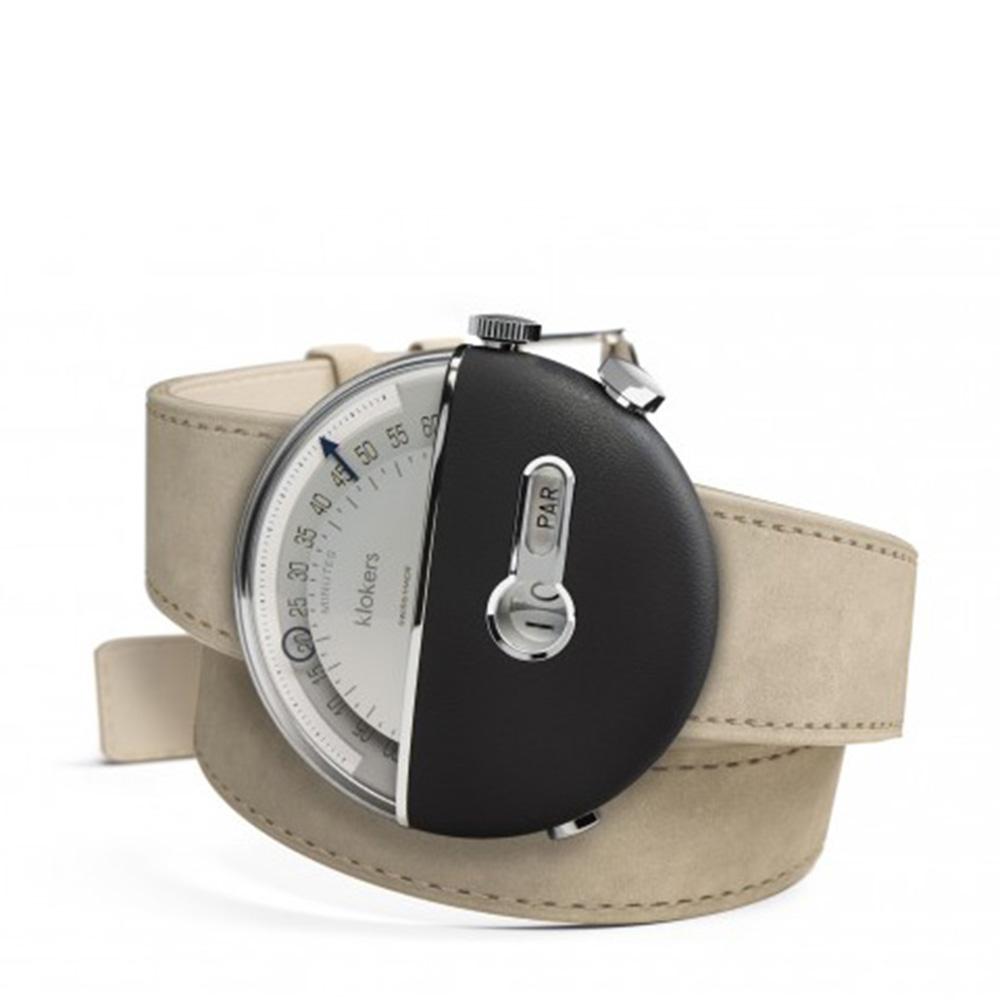 klokers | 庫克錶 KLOK-02-雙圈錶帶(鼠灰色麂皮革/黑色柔滑皮革/靛藍皮革/橙色麂皮)