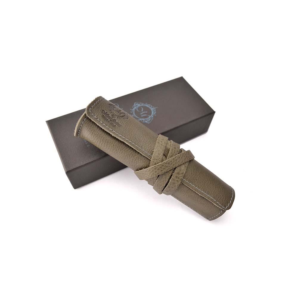 Manufactus │ 義大利皮革筆袋(棕/咖啡/深灰/黑) - E495