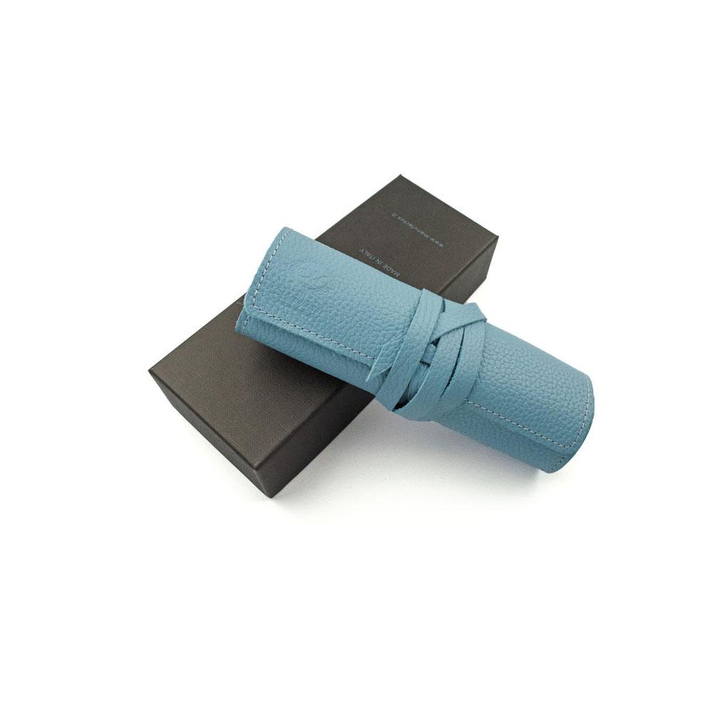Manufactus │ 義大利皮革筆袋(水藍/藍綠/鈷藍/祖母綠) - E495