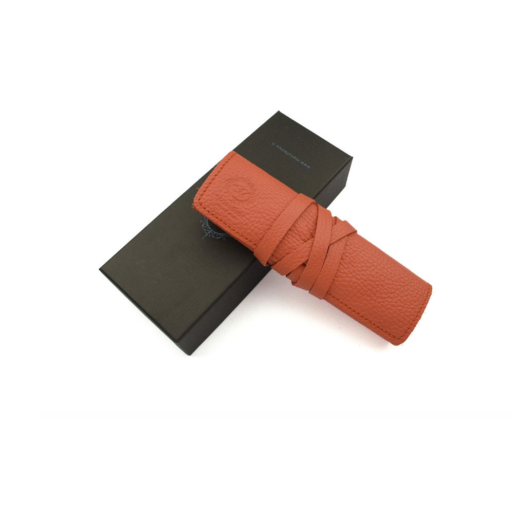 Manufactus │ 義大利皮革筆袋(奶油黃/朱紅/洋紅/薰衣草) - E495