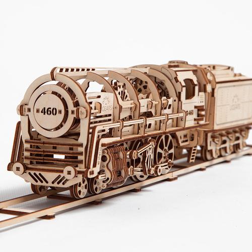 Ugears| 自我推進模型 Locomotive 蒸汽火車頭