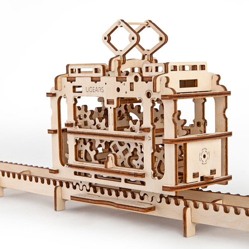 Ugears|自我推進模型 Tram with rails 輕軌電車