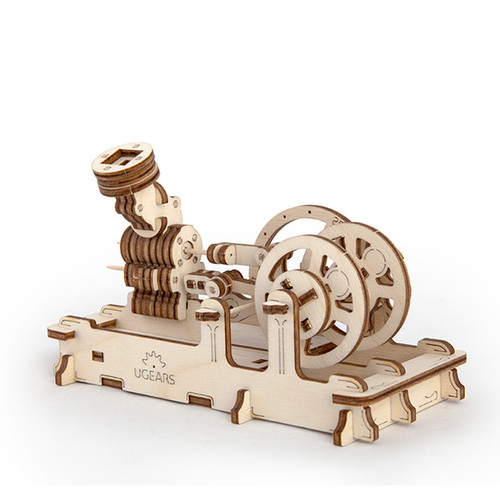 Ugears|自我推進模型 Pneumatic engine 氣動引擎
