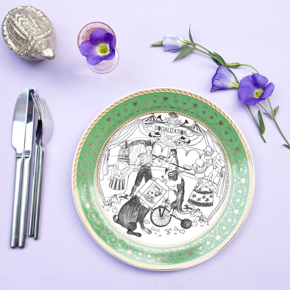 島民|當下最美好餐盤-馬戲團(10吋盤)
