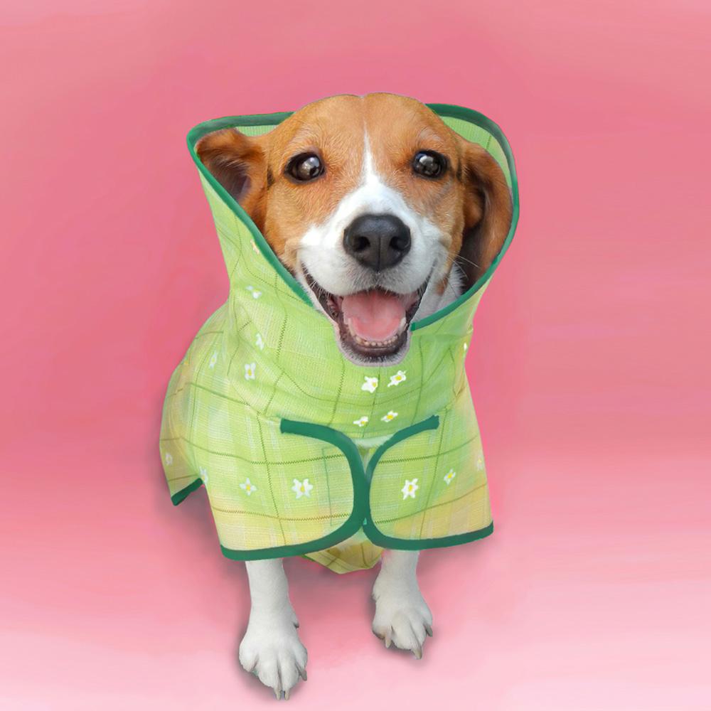 島民 寵物風衣式雨衣(母狗專用)- M