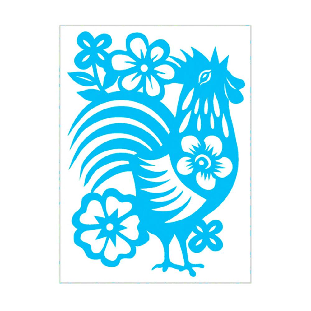 島民|剪紙靜電貼 - 金雞 / 小(3張)